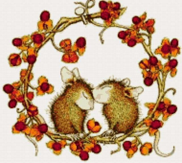Влюблённые мышата, животные