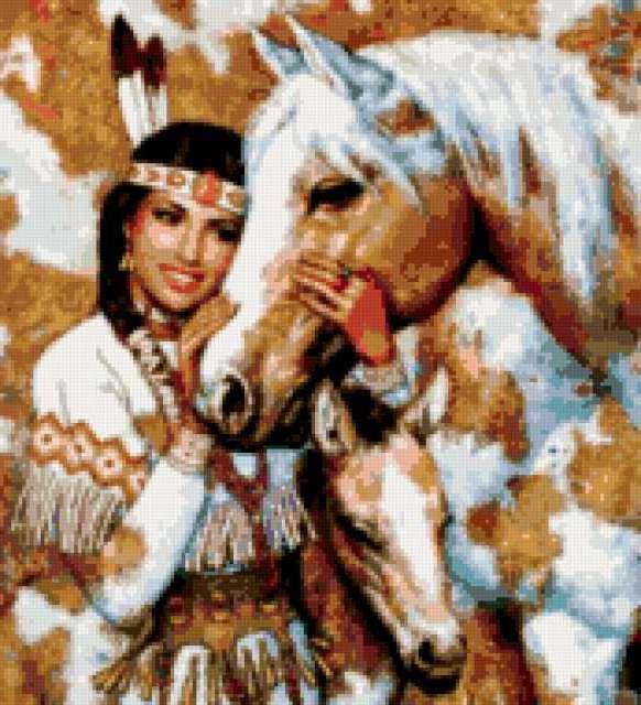 Индейские кони, индейцы