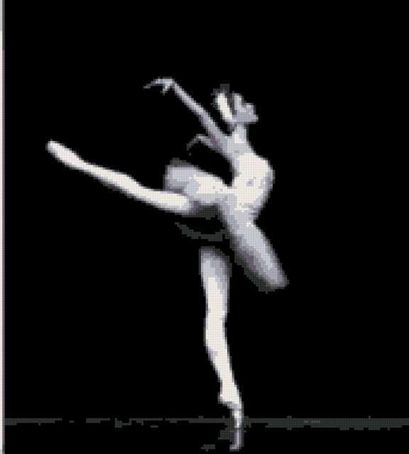 Балерина монохром