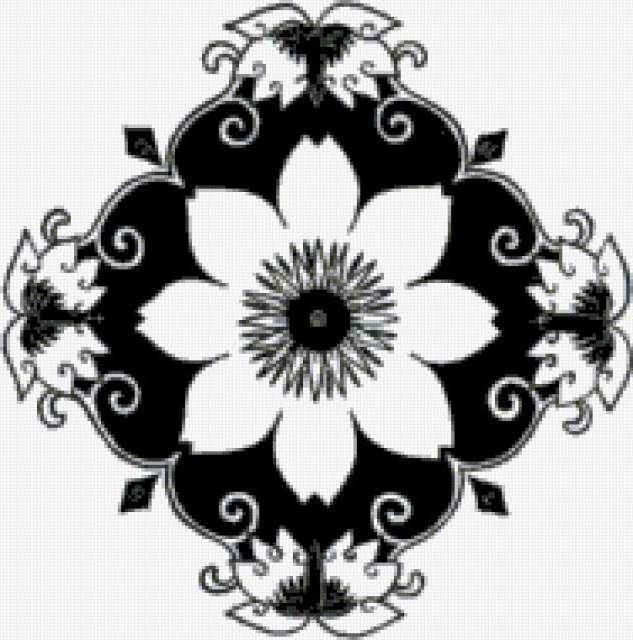 Простой цветочный орнамент