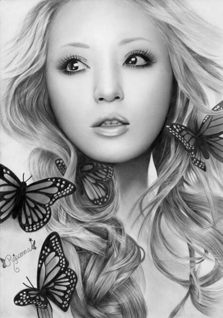 Девушка с бабочками, оригинал