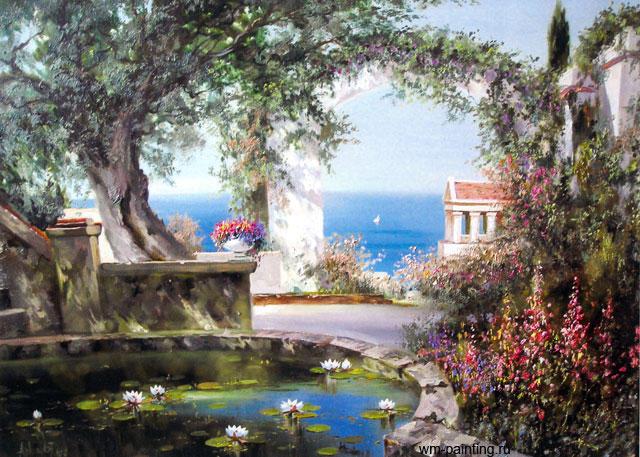 Итальянский пейзаж, живопись