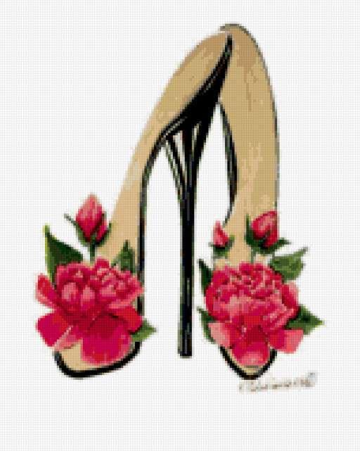 Туфельки с цветами