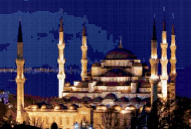 Мечеть Султан Ахмет ночью,