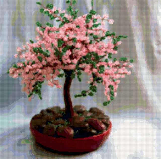 бисероплетение дерево сакуры - Сумки.