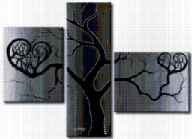 Триптих дерево, предпросмотр