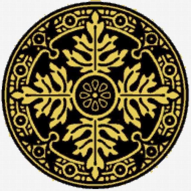 Орнамент в круге, предпросмотр