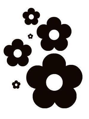 Черно-белые цветочки, цветы