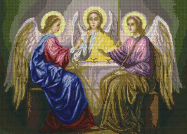 Святая Троица, иконы, картины,
