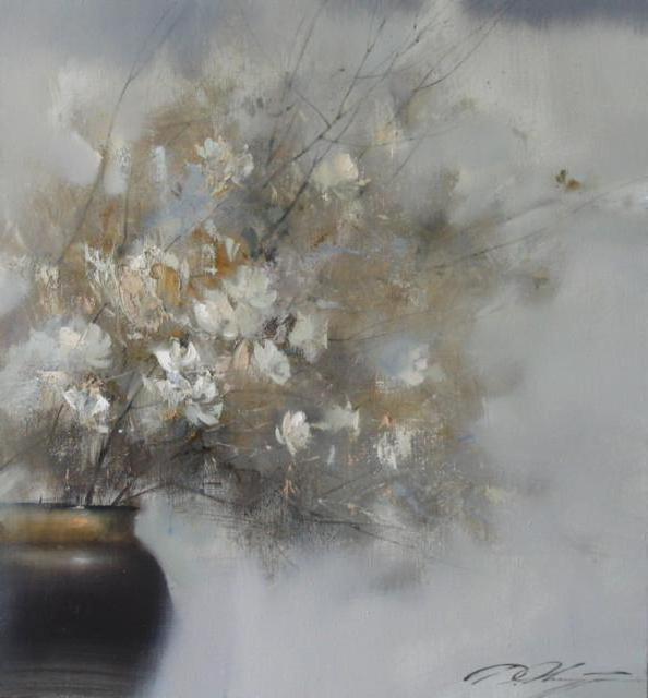 Поздние хризантемы, цветы