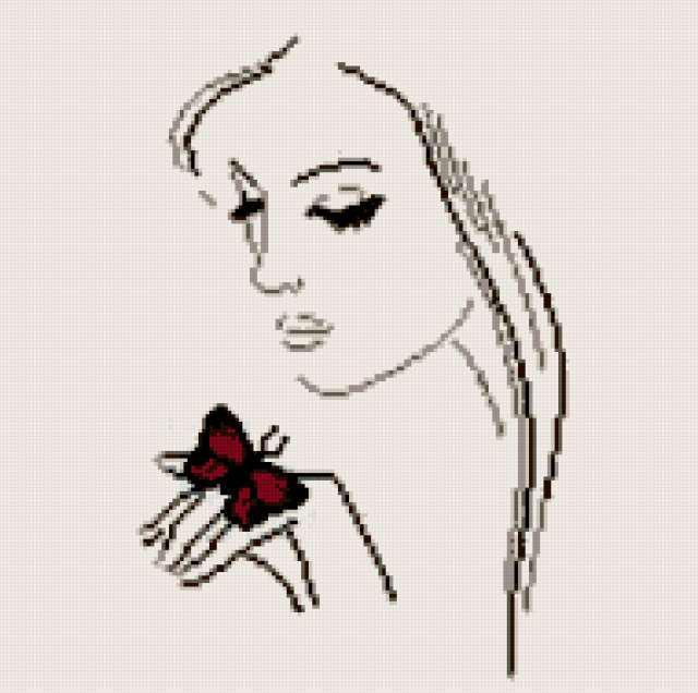 Девушка с бабочкой, оригинал