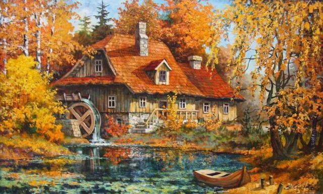Водяная мельница, двор