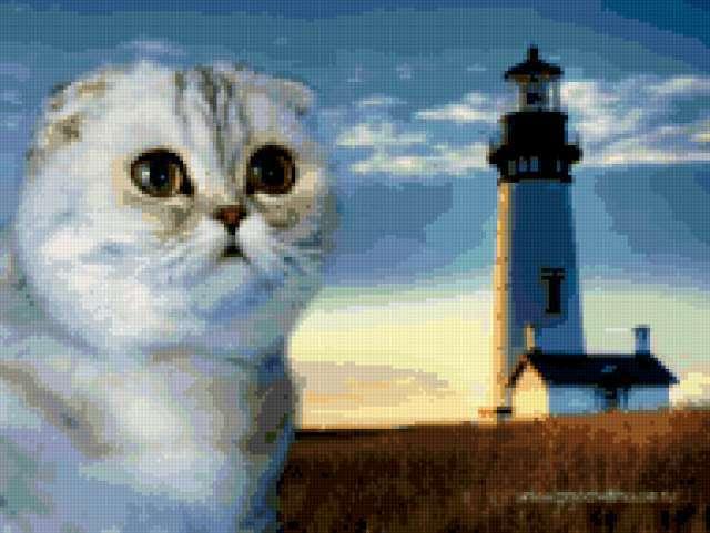 Кот и маяк, предпросмотр