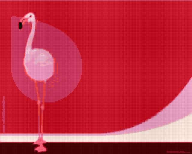 Розовый фламинго, предпросмотр