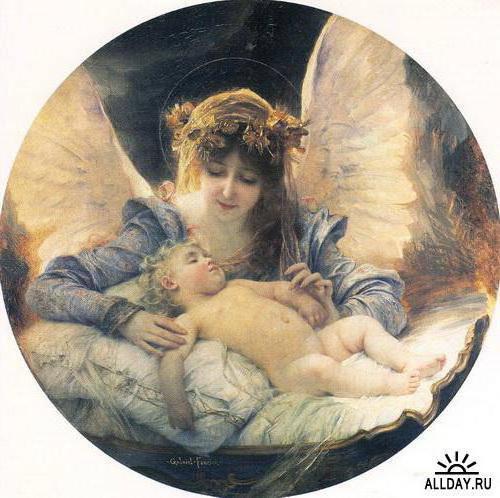 Ангел и спящий малыш, оригинал