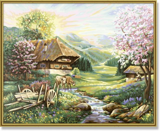 Сельский домик, природа