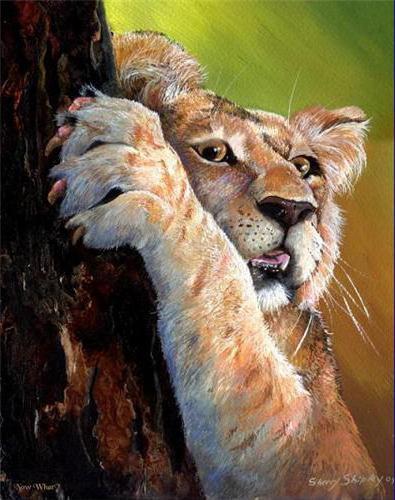 Педикюр для львенка, оригинал