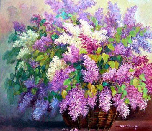 Букет сирени, цветы, картины