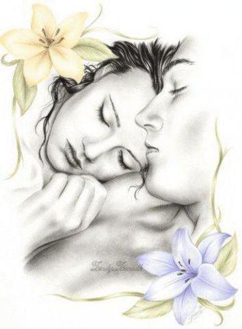 Любовь и лилии, любовь, пара