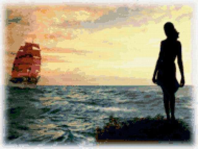 Алые паруса, девушка, женщина,