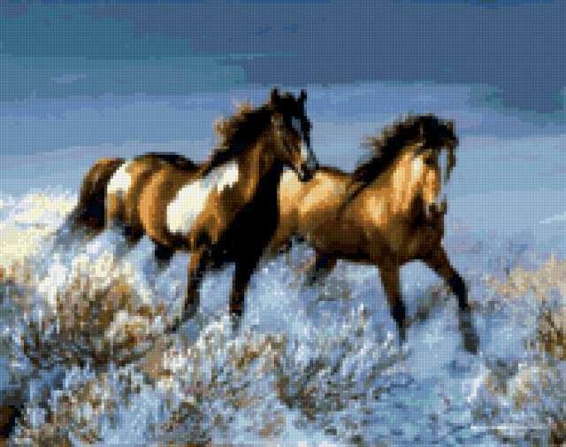 Пара лошадей, лошадь