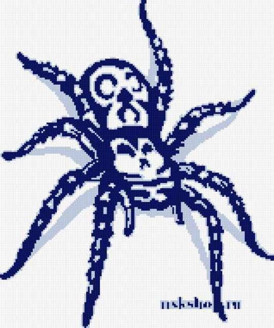 Схемы вышивки крестом пауки