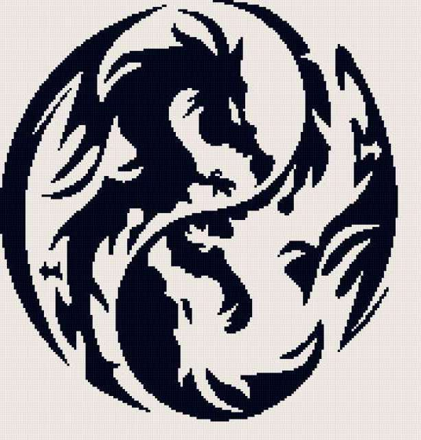 Схема вышивки «Дракон - символ