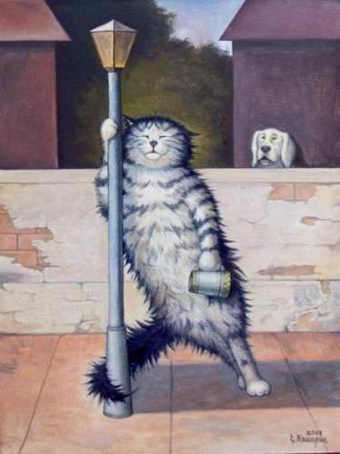 Веселые коты, оригинал