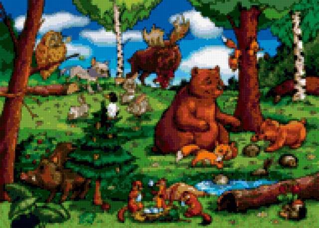 Лесные звери, предпросмотр