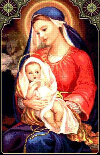дева Мария с сыном, оригинал