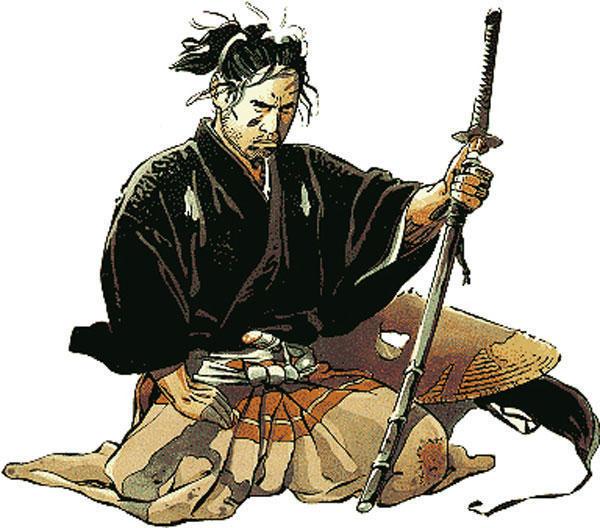 Самурай схема вышивка крестом