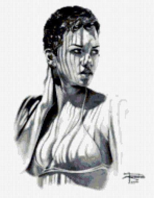 Рисунок девушки, предпросмотр