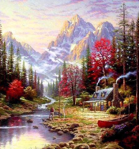 Уют в горах, природа, пейзаж,