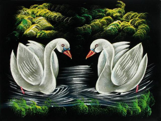Два лебедя))),