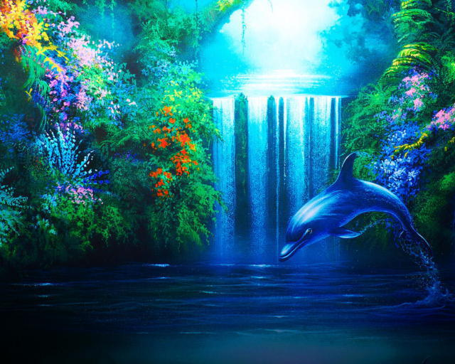 Сказочный водопад, водопад