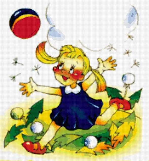 Девочка с мячом, предпросмотр