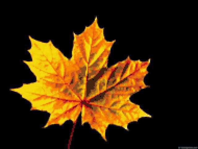 Кленовый лист (подушка)