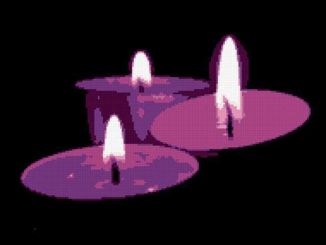Фиолетовые свечи, предпросмотр