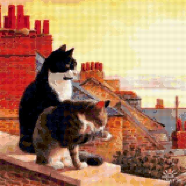 Кошки на крыше, предпросмотр