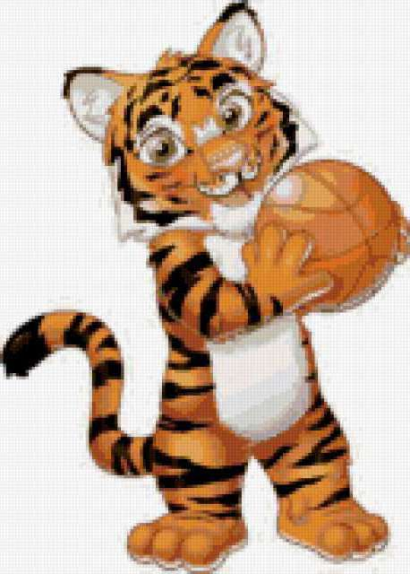 Тигр с мячом, предпросмотр