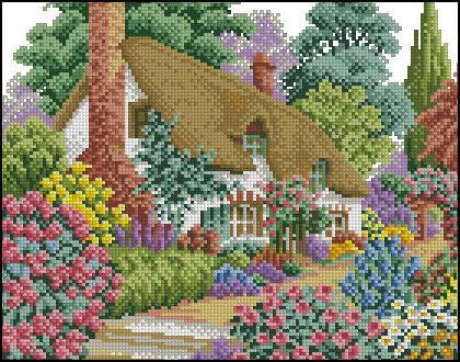 Домик мечты, домики, цветы,