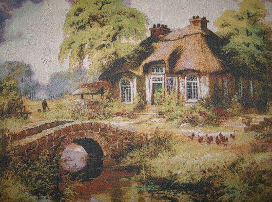 Домик в деревне , пейзаж.