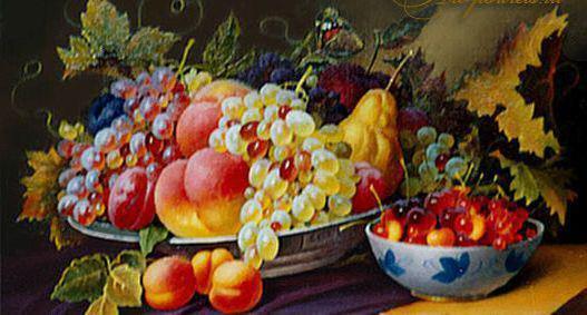 Фруктовый натюрморт, фрукты