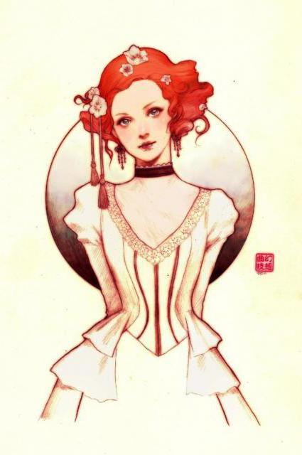 Рыжая принцесса, оригинал