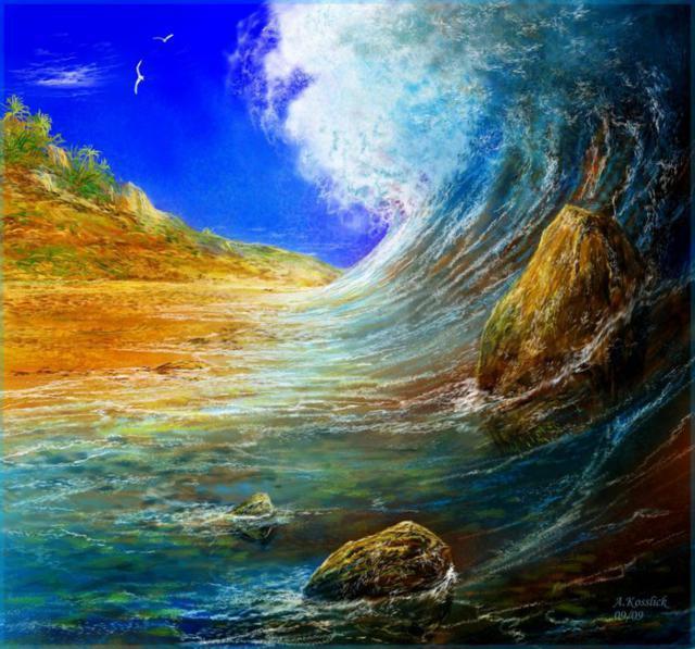 Девятый вал, волна, буря,