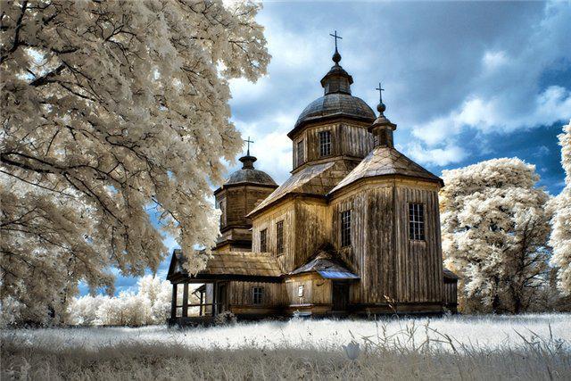 Храм зимой, храм, церковь,