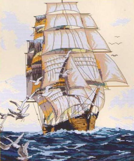 Корабль с чайками, оригинал