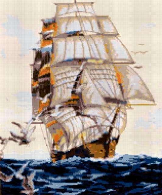 Корабль с чайками