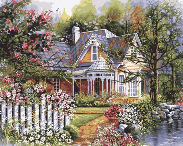 Райский сад, двор, природа,