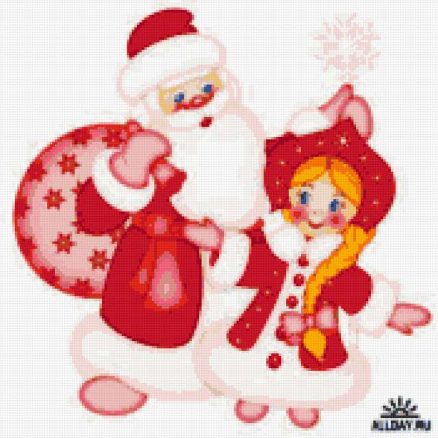Дед мороз и снегурочка,